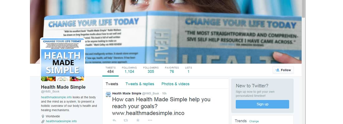 Health made Simple Social Media by Robb Wallace Media