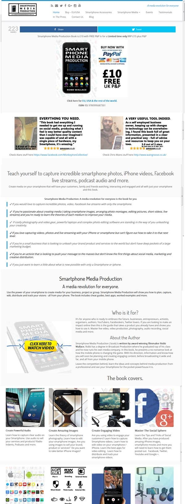 Smartphone-media-production-website